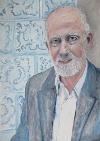 Heinrich Hannover Juli,  2017, Öl/ Pappe, 50x40 cm