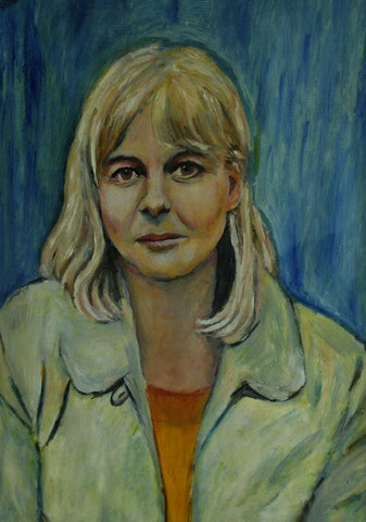 Sigrid Fronius, 2003, Öl/Papier 42x29,7 cm