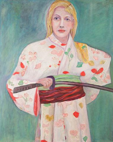 Frau im Kimono, 2009-2016, Öl/Lw 100x80 cm