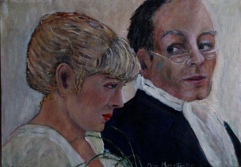 Der Brautvater, 2009, Öl/Papier 42x29,7 cm