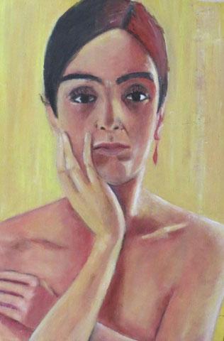 Studie zu Anita Ree, 2010, Öl/Holz 26,5x38 cm