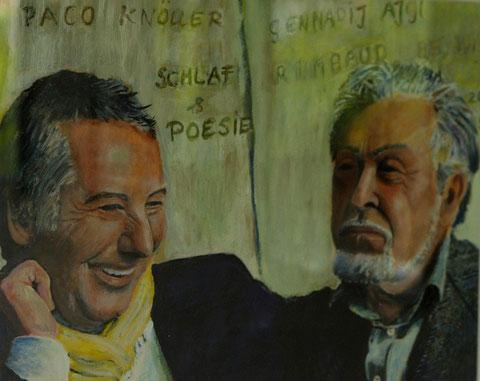 Paco & G. Aigi, 2003, Öl/Papier 29,7x42 cm