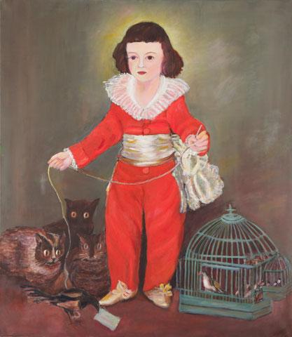 Studie zu Goya (Don Manuel Osorio 1784), 2011, ÖL/LW 70x80 cm