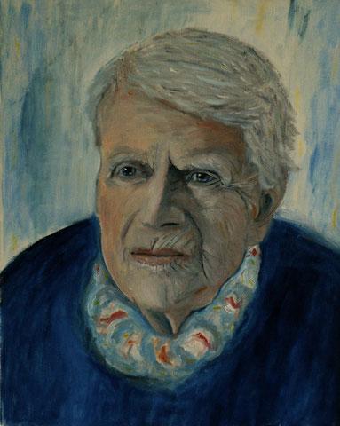 Meine Mutter, 2004, Öl/LW 50x40 cm