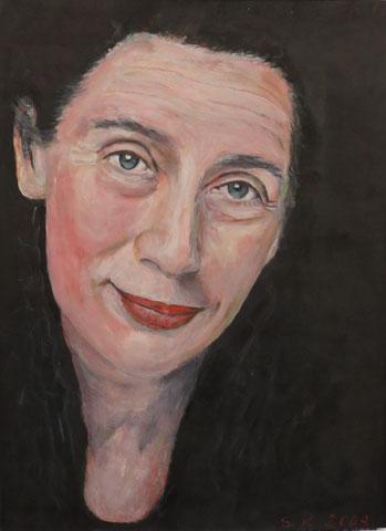 Barbara D., 2005, Öl/Papier 42x 29,7 cm
