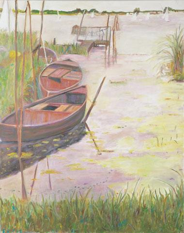 Am Flögelner See, 2009, Öl/LW 100x80 cm