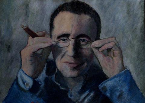 Berthold Brecht, 2008, Öl/Papier 42x29,7 cm