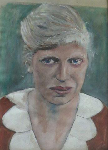 Ilse Süchting 18 Jahre, 2003, Öl/Papier 42x29,7 cm