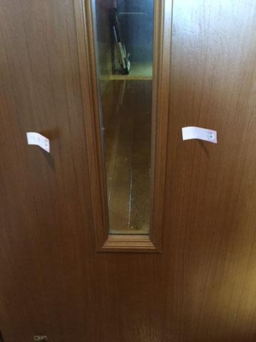 室内ドアのキズ「補修後」