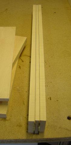 Dieser Halsrohling wurde halbiert und der eine Teil kam bei der Florentina zuEeinsatz.