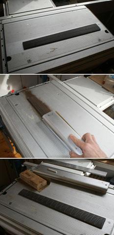 Den Beginn macht die Herstellung des Griffbrettes.