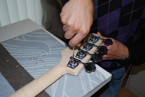 Komplettieren um das Instrument...