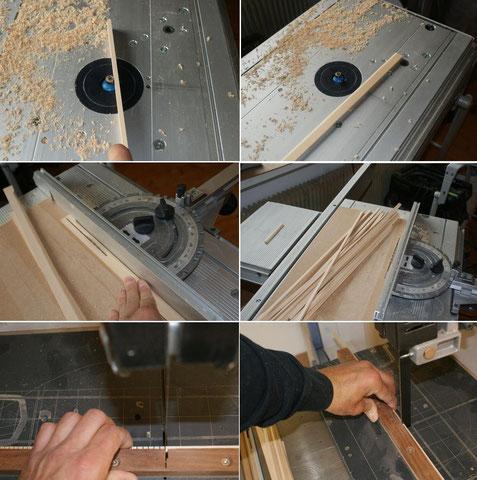 Die Reifchen werden extra hergestellt. Es kommen auch hier wieder heimische Hölzer zur Verarbeitung.