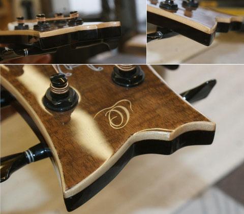 Der Sattelwurde angepasst und das Instrument wieder bespannt.