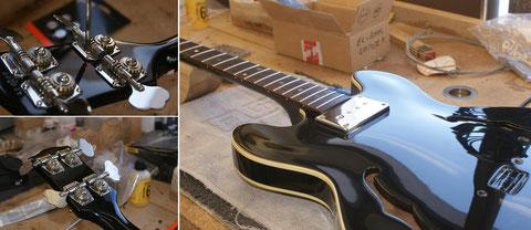 Nun folgt das Komplettieren und Einstellen des Instrumentes.