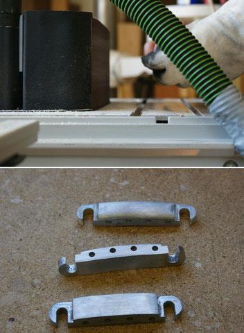 ... das Material weiterverarbeitet und angepasst werden. Auch hier muss später noch alles feingeschliffen und auf Hochglanz poliert werden.