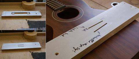 Eine eigenst angefertigte Schablone dient zur Überprüfung und ermöglicht ein sicheres Arbeiten.