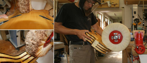 Im Anschluß an den Feinschliff wird das Instrument auf Hochglanz polieret.