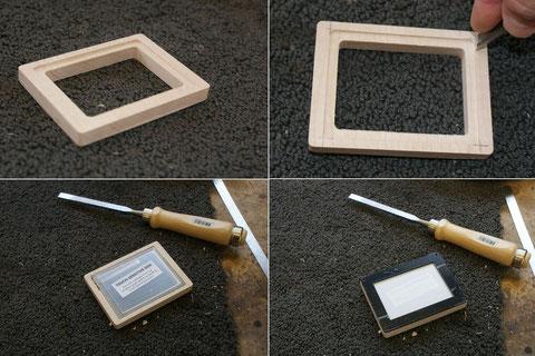 Zuerst wird ein Rahmen angefertigt und das Pad eingepasst.
