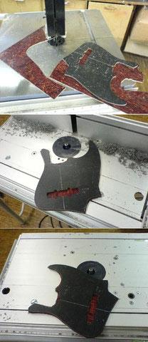 Anfertigen der Schlagplatte.