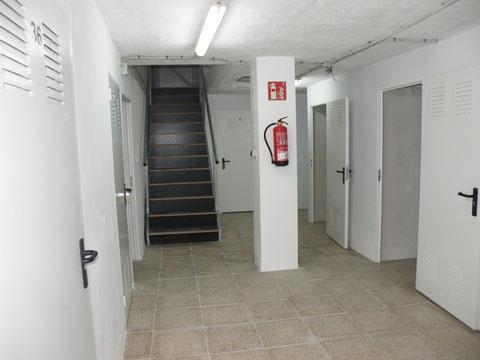 Zona de distribución a pasillos amplia