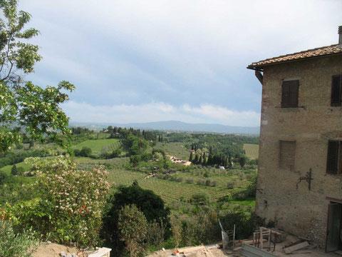 San Gimignano, Weinanbau im Chiantigebiet