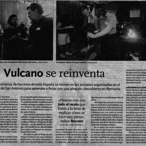 Ramón Recuero Vulcano se reinventa (Nota de prensa)