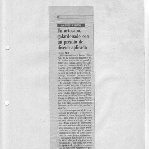 Ramón Recuero Ibáñez  Nota de prensa