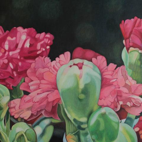 dianthus IX 140x80cm oil/canvas
