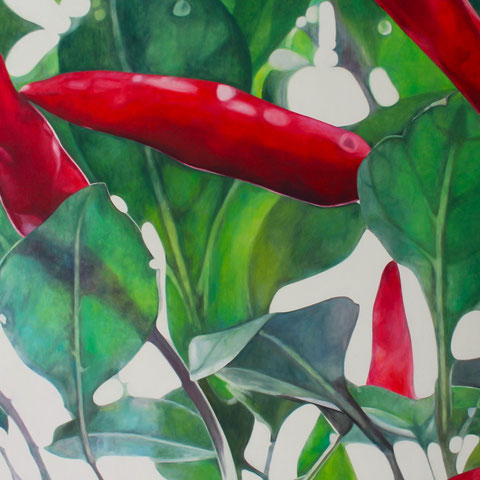 capsicum annuum 2014 120x90cm oil/canvas