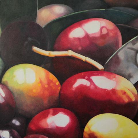 olea europaea XIV 2014 80x90cm oil/canvas