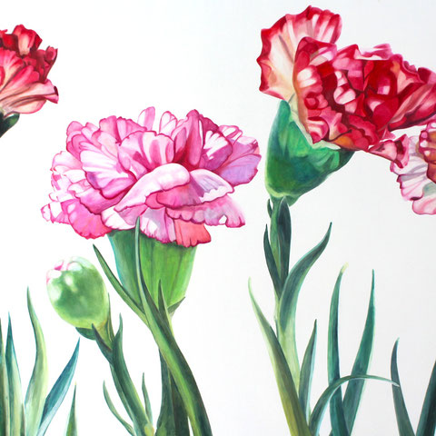 dianthus VIII 110x80cm oil/canvas