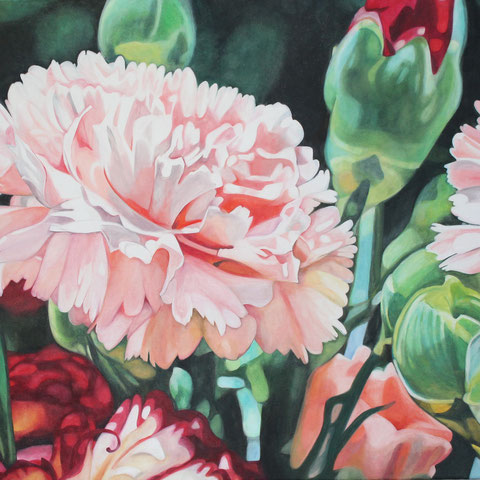 dianthus V 80x70cm oil/canvas