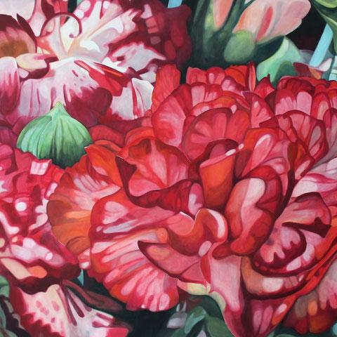 dianthus IV 2015 100 100x80cm oil/canvas