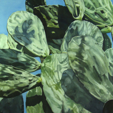 opuntia ficus indica 2012 100x100cm oil/canvas