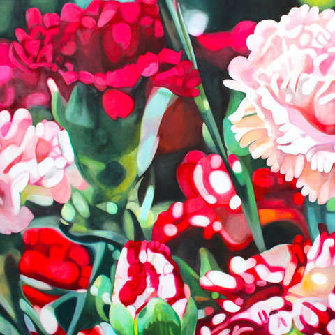 dianthus VI 2015 90x90cm oil/canvas