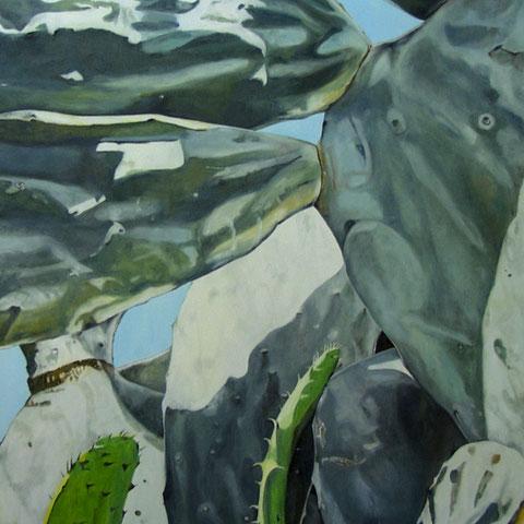 opuntia ficus indica 2012 130x60cm oil/canvas