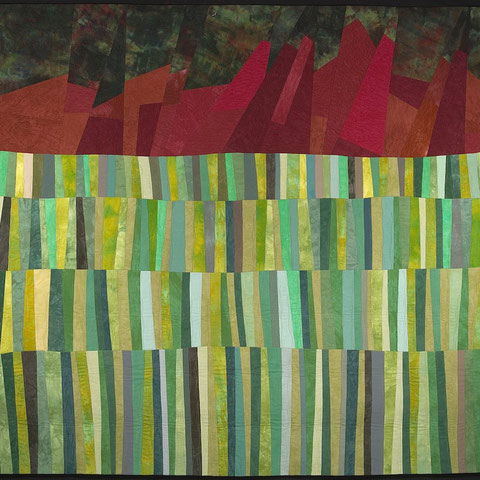 """Before Boulder"" Art Quilt by Amy Mundinger, 72 x 72"""