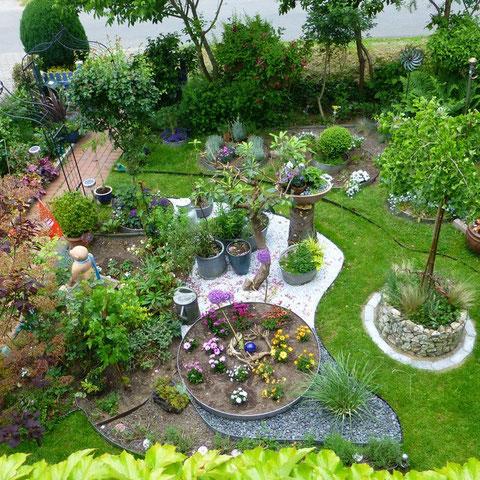 Vorgarten von Oben