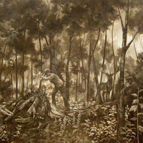 Ausnahmezustand, Öl auf Leinwand, 140 x 180 cm, 2013