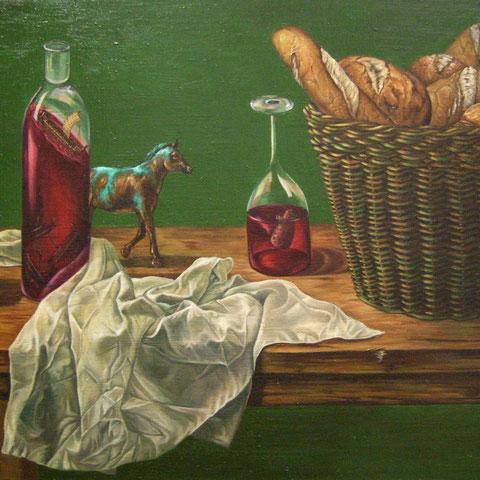 Troja, Öl auf Leinwand, 55 x 45 cm, 2012
