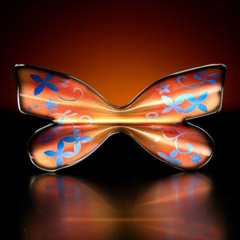 金属製 蝶ネクタイ Metal Butterfly (メタルバタフライ) アグリアス・クラウディナ レッド ウラ