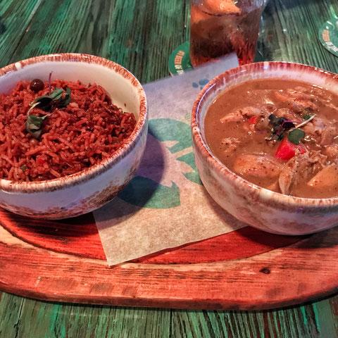 Curry mit Reis in Nassau