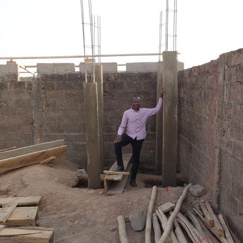 der Unterbau für den großen Wassertank