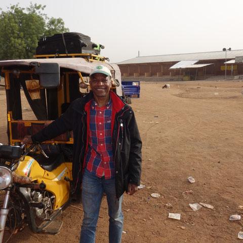 Ibrahim auf dem Weg nach Bawku...