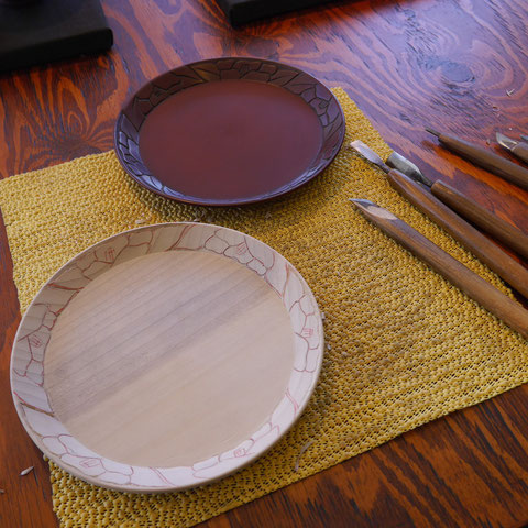 鎌倉彫 盆|鎌倉漆工房いいざさ