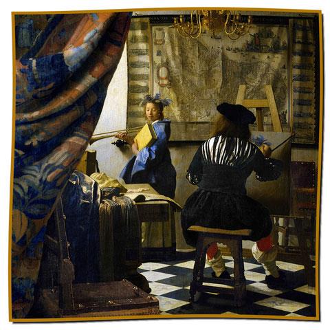 Artikel-Nr. 1135 - Die Malkunst - Vermeer (100x100 cm)