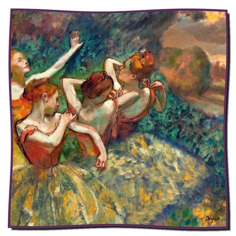 Artikel Nr. 1095 Vier Tänzerinnen - Degas (100 x 100 cm)