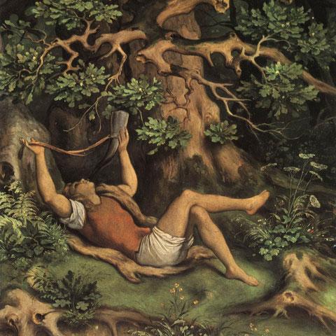 """""""En el bosque"""" o """"Niño con cuerno"""". Moritz von Schwind (1804-1871)"""
