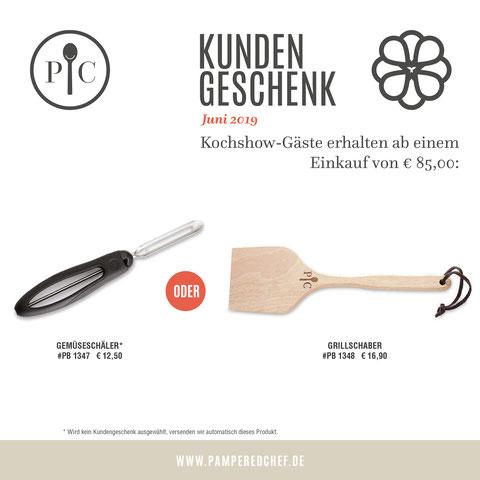 Geschenke Pampered Chef ab 85€ Warenwerteinkauf im Monat Juni 2019